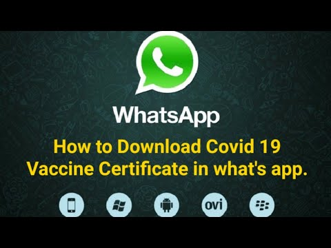 How to download Covid 19 Vaccine Certificate in Whatsapp on mobile   Covid 19 Vaccine Certificate