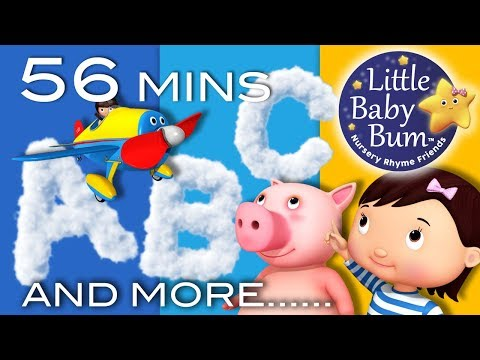 ABC Song   Nursery Rhymes Collection   56 Minutes from LittleBabyBum!