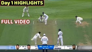 India Vs New Zealand 1st Test 1st Day Full Match Highlights..