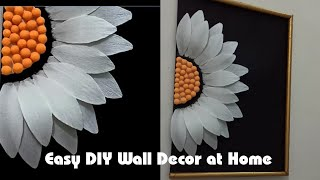 Paper Flower Craft Wall Hanging | Newspaper Wall Decoration | Easy paper Flower Wall Hanging