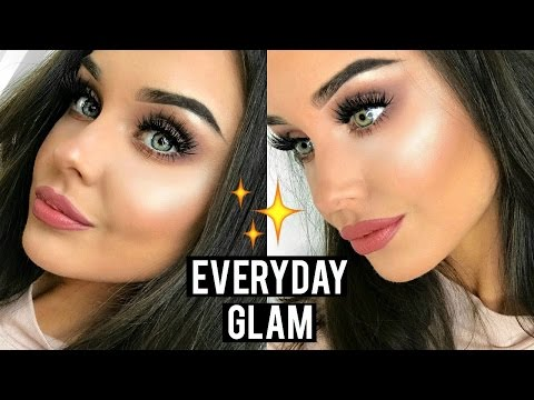 everyday glam makeup tutorial / routine 2017
