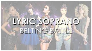 Lyric Sopranos' Studio Belting Battle!