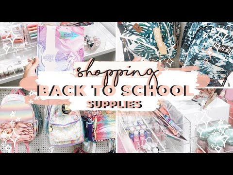 BACK TO SCHOOL SHOPPING AT TARGET! Budget School Supplies Haul 2019