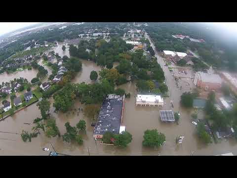 Flooding from Hurricane Harvey in Katy Texas 2017