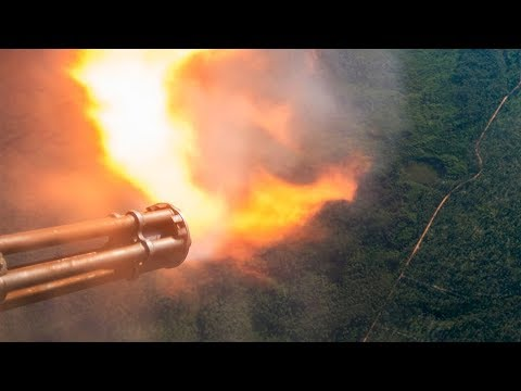 LEGENDARY AC-130 IN ACTION • SPOOKY GUNSHIP FIRING • CANNONS & GATTLING GUN LIVE FIRE