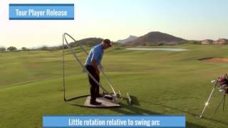 Malaska Golf - Releasing the Club - Correct Hand Action, Swing Arc, Club Face Control