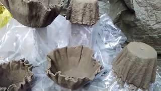 Blumentopf aus Beton und Tücher (Draped Cement Planters )