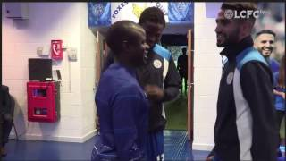 mahrez/kante tunnel cam - the reunion!