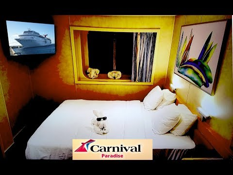 Carnival Paradise Newly Upgraded for 2018, Oceanview Cabin M262