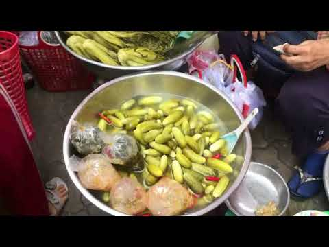 Phnom Penh Street Food In The Market - Morning Market In The City - Cambodia (country)