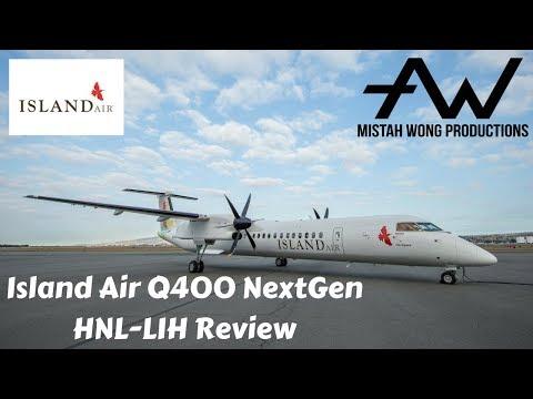 Island Air: Bombardier Q400 NextGen HNL-LIH Review (HD)