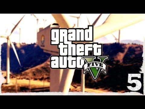 Смотреть прохождение игры Grand Theft Auto V. Серия 5 - Сплошные неприятности.