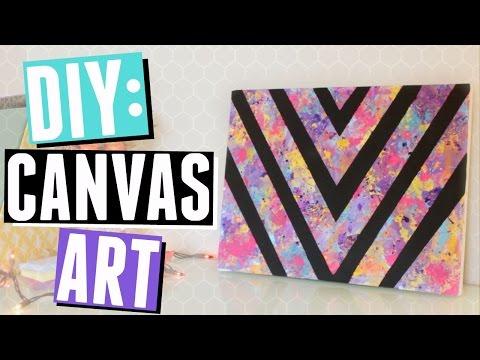 Bedroom DIY: Colorful Canvas Art!