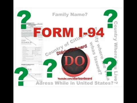 PASSO A PASSO: Preenchendo o Formulário I-94
