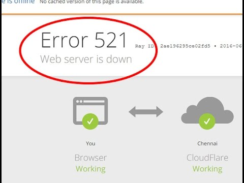 How to fix web server is down|Error 521 in Google chrome and Mozilla firefox