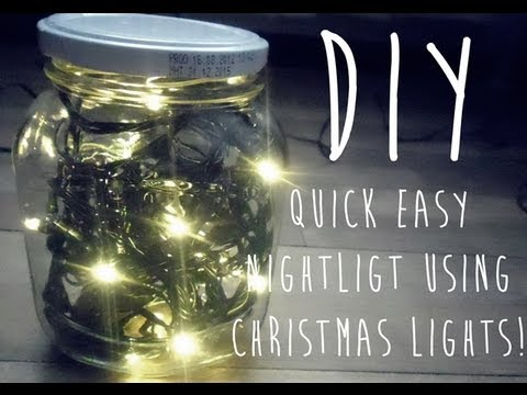 Diy Night Light Using Christmas Lights Youtube