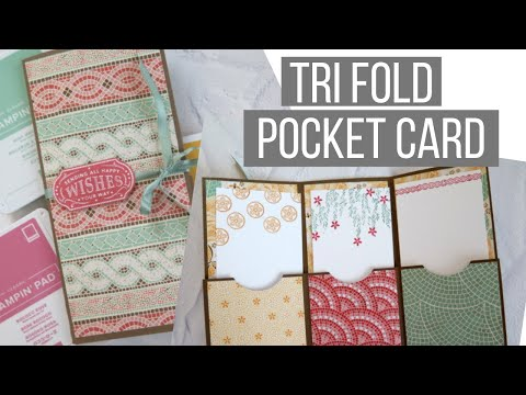 How To Make A Tri Fold Pocket Card & The Hubby Returns
