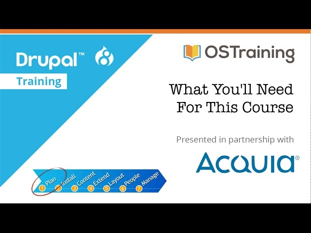 Drupal 8 Beginner, Lesson 4: What You'll Need For This Course