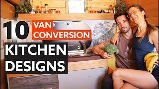 10 Great KITCHEN DESIGNS for your VAN CAMPER Conversion 🍳