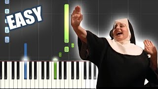 I Will Follow Him - Sister Act | EASY PIANO TUTORIAL by Betacustic
