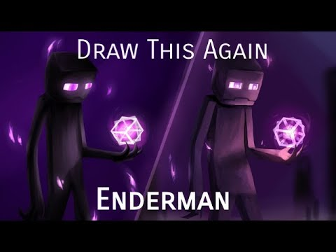 Draw This Again [2 yrs]: Enderman | Minecraft Speedpaint