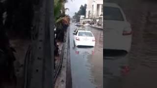 شوارع دمشق تطوف بالمياه..وانقطاع طرق رئيسية في العاصمة