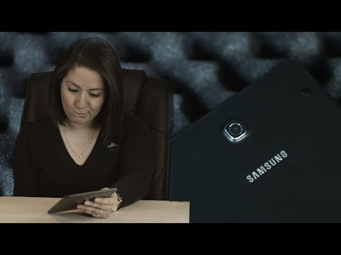 Apple Girl vs. Samsung Tablet