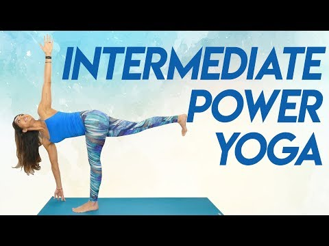 Challenging Power Yoga Workout for Inner Thighs, Glutes & Total Body Strength   30 Min Class, Myra
