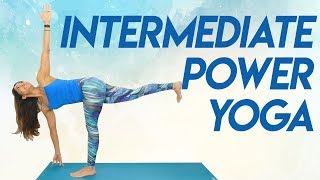 Challenging Power Yoga Workout for Inner Thighs, Glutes & Total Body Strength | 30 Min Class, Myra