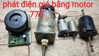 Chọn motor nào làm phát điện gió