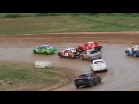 Cole Youse racing at Woodhull Raceway 7/15/2017