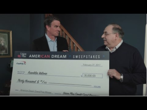 American Dream Sweepstakes $30,000 Grand Prize Winner | Union Plus