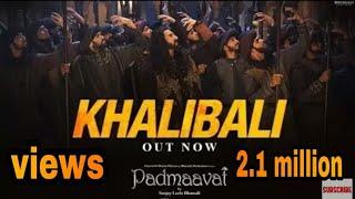 Khali Bali Ho Gaya Hai Dil - song - Ranveer Singh Padmavati movie