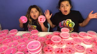 DIY SLIME VALENTINES FOR SCHOOL - MAKING 2 GALLONS OF FLUFFY SLIME FOR SCHOOL thumbnail