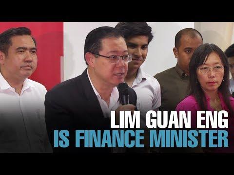 NEWS: Lim Guan Eng is Finance Minister