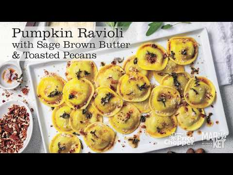 PICS Pumpkin Ravioli with sage brown butter & toasted pecans