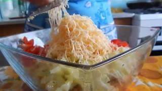 Салатик из крабовых палочек с фасолью