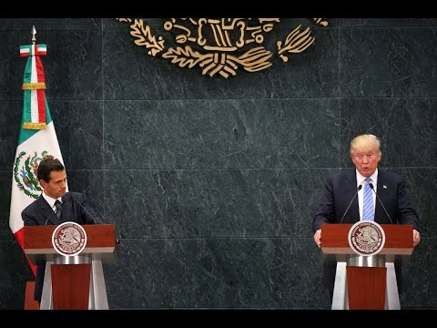 Mexican President Nieto reacts to Trump's proposed border wall