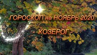 ♑ КОЗЕРОГ -  ГОРОСКОП на НОЯБРЬ 2020