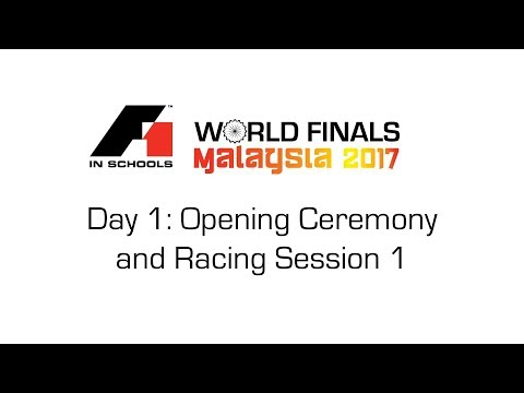 F1 in Schools World Finals 2017 Day 1 - Opening Ceremony and Racing Session 1