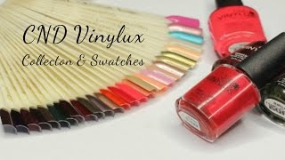 CND vinylux collection and swatches ... تعرفي على الوان منيكيور من سي ان دي فاينالوكس