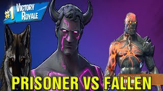 Fortnite New Prisoner Skin Stage 4 Vs Fallen Love Ranger! Fortnite Season 7 BEST SKINS LIVE!