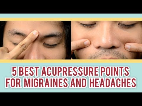 5 Acupressure Points for Migraines and Headaches: Acupressure Treatment  Body Pains