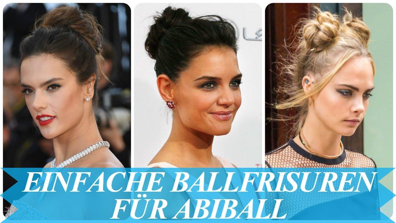 Einfache Ballfrisuren Fur Abiball Youtube