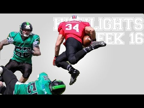 British American Football Highlights | BAFA NL Adult 2017: Week Sixteen