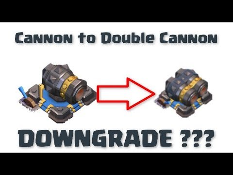 Cannon Vs Double Cannon | Clash Of Clans