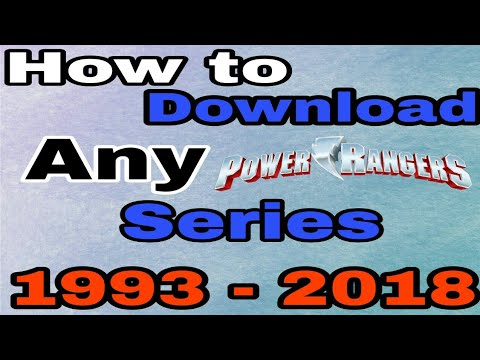 HOW TO DOWNLOAD ANY POWER RANGERS SERIES | ART SPECIAL |