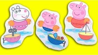 ペッパピッグ浮動おもちゃpeppa豚はデアグアpeppaのお風呂の玩具のビデオをjuguetes