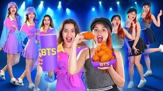 GUMAT VS. REAL || Încercăm meniul BTS! 24 de ore de mâncare gumată uriașă, marca 123 GO! CHALLENGE
