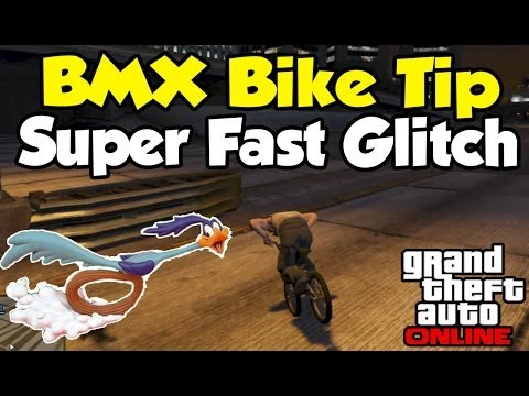 "GTA 5 Online - ""Super Fast"" BMX Bike Glitch! (Helpful Tip) [GTA V Tips & Tricks]"